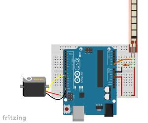 14 Flex sensor servo