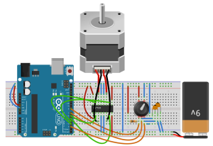 rotary-encoder-stepper-motor